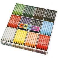 Colortime fargekritt, L: 10 cm, tykkelse 11 mm, ass. farger, 12x24 stk./ 1 pk.