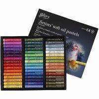 Gallery oljepastell premium, L: 7 cm, tykkelse 10 mm, ass. farger, 48 stk./ 1 pk.