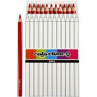 Colortime fargeblyanter, L: 17,45 cm, mine 5 mm, JUMBO, rød, 12 stk./ 1 pk.