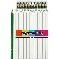 Colortime fargeblyanter, L: 17,45 cm, mine 5 mm, JUMBO, grønn, 12 stk./ 1 pk.
