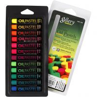 Gallery Oljepastell, L: 7 cm, tykkelse 11 mm, neonfarger, 12 stk./ 1 pk.