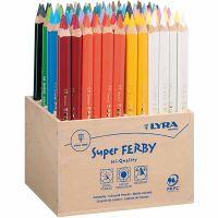 Super Ferby 1 fargeblyanter, L: 18 cm, mine 6,25 mm, ass. farger, 96 stk./ 1 pk.
