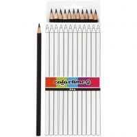 Colortime fargeblyanter, L: 17 cm, mine 3 mm, svart, 12 stk./ 1 pk.