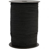 Elastikksnor, tykkelse 2 mm, svart, 250 m/ 1 rl.