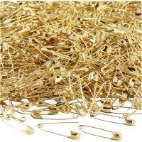 Sikkerhetsnåler, L: 22 mm, tykkelse 0,6 mm, gull, 500 stk./ 1 pk.