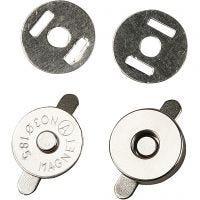 Magnetlås, dia. 18 mm, 4 stk./ 1 pk.