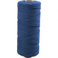 Knyttegarn, L: 315 m, tykkelse 1 mm, Tynn kvalitet 12/12, blå, 220 g/ 1 nst.