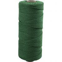 Knyttegarn, L: 315 m, tykkelse 1 mm, Tynn kvalitet 12/12, grønn, 220 g/ 1 nst.