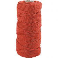 Knyttegarn, L: 100 m, tykkelse 2 mm, Tykk kvalitet 12/36, orange, 225 g/ 1 nst.