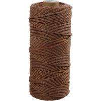 Knyttegarn, L: 100 m, tykkelse 2 mm, Tykk kvalitet 12/36, brun, 225 g/ 1 nst.