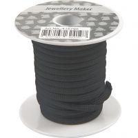 Knyttesnor, tykkelse 4 mm, svart, 5 m/ 1 rl.