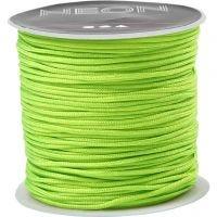 Knyttesnor, tykkelse 1 mm, neon grønn, 28 m/ 1 rl.