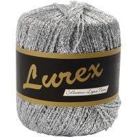 Lurex garn, L: 160 m, sølv, 25 g/ 1 nst.