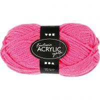 Fantasia Akrylgarn, L: 80 m, neon pink, 50 g/ 1 nst.