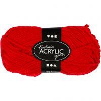 Fantasia Akrylgarn, L: 80 m, rød, 50 g/ 1 nst.