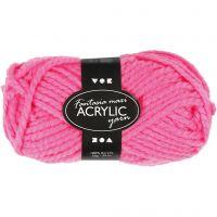 Fantasia Akrylgarn, L: 35 m, str. maxi , neon pink, 50 g/ 1 nst.