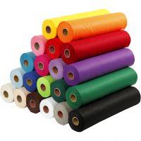 Hobbyfilt, B: 45 cm, tykkelse 1,5 mm, 180-200 g, ass. farger, 20x5 m/ 1 pk.