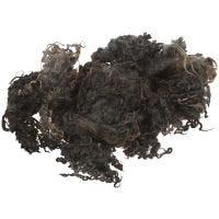 Krøllull, mørk grå, 100 g/ 1 bunt