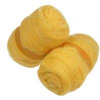 Kardet ull, gul, 2x100 g/ 1 bunt