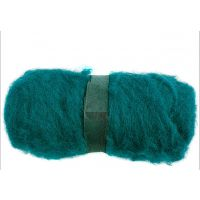 Kardet ull, grønn, 100 g/ 1 bunt