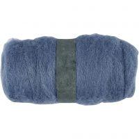 Kardet ull, himmelblå, 100 g/ 1 bunt