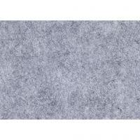 Hobbyfilt, A4, 210x297 mm, tykkelse 1,5-2 mm, melert, grå, 10 ark/ 1 pk.