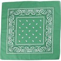 Hårbandsbandana, str. 55x55 cm, mørk grønn, 1 stk.