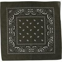 Hårbandsbandana, str. 55x55 cm, oliven, 1 stk.