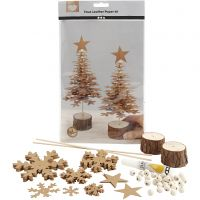 Juletrær av lærpapir, tykkelse 0,55 mm, 1 sett