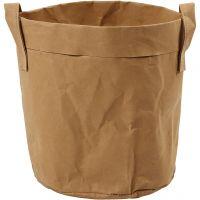 Oppbevaringspose, H: 20 cm, dia. 19,5 cm, 350 g, lys brun, 1 stk.