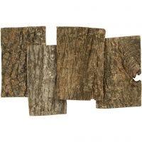 Treskiver bark, str. 9,5x6,5 cm, tykkelse 1-4 mm, 340 g/ 1 pk.