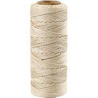 Bambussnor, tykkelse 1 mm, råhvit, 65 m/ 1 rl.