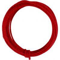 Jute wire, tykkelse 2-4 mm, rød, 3 m/ 1 pk.