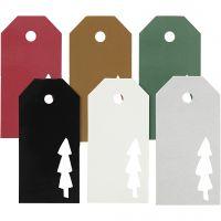 Manillamerker, juletre, str. 5x10 cm, Innhold kan variere , 300 g, 6x15 stk./ 1 pk.