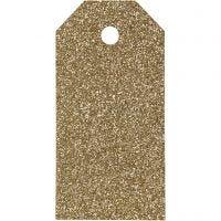 Manillamerker, str. 5x10 cm, glitter, 300 g, gull, 15 stk./ 1 pk.