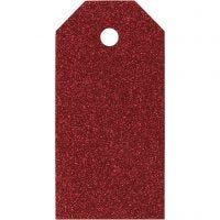 Manillamerker, str. 5x10 cm, 300 g, rød, 15 stk./ 1 pk.