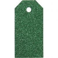 Manillamerker, str. 5x10 cm, glitter, 300 g, grønn, 15 stk./ 1 pk.
