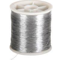 Sytråd, tykkelse 0,15 mm, sølv, 100 m/ 1 rl.