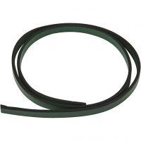 Imitert lærbånd, B: 10 mm, tykkelse 3 mm, grønn, 1 m/ 1 pk.