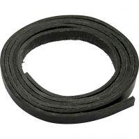 Lærarmbånd, B: 10 mm, tykkelse 3 mm, svart, 2 m/ 1 pk.