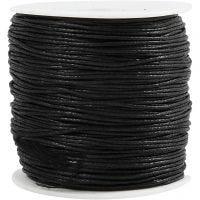 Bomullssnor, tykkelse 0,6 mm, svart, 100 m/ 1 pk.