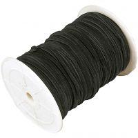 Imitert ruskinn, tykkelse 3 mm, svart, 100 m/ 1 rl.