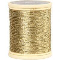 DMC tråd, tykkelse 0,36 mm, gull, 40 m/ 1 rl.