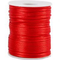 Satengsnor, tykkelse 2 mm, rød, 50 m/ 1 rl.