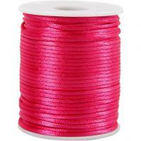 Satengsnor, tykkelse 2 mm, pink, 50 m/ 1 rl.