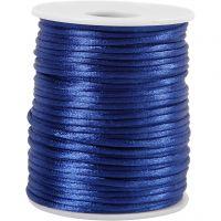 Satengsnor, tykkelse 2 mm, mørk blå, 50 m/ 1 rl.