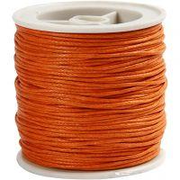Bomullssnor, tykkelse 1 mm, orange, 40 m/ 1 rl.