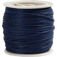 Bomullssnor, tykkelse 1 mm, blå, 40 m/ 1 rl.