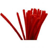 Piperensere, L: 30 cm, tykkelse 9 mm, rød, 25 stk./ 1 pk.