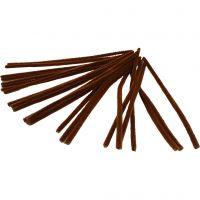 Piperensere, L: 30 cm, tykkelse 9 mm, brun, 25 stk./ 1 pk.